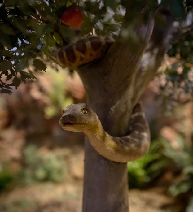 Serpiente en el árbol de la ciencia del bien y del mal