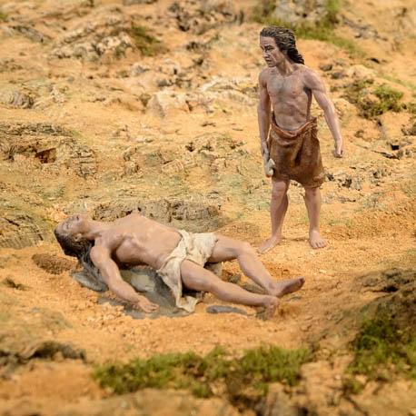 Representación de Caín y Abel