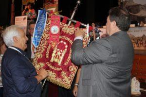 imposición de corbatín inauguración 57 Congreso Nacional Belenista
