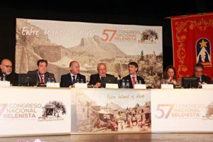 mesa presidencia inauguración 57 Congreso Nacional Belenista