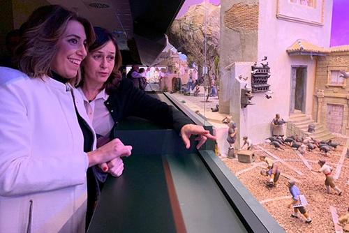 Susana Díaz y Ana Caballero Museo Arte Belenista