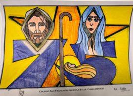 dibujo ganador I Concurso Felicitaciones Navidad 2019 Museo Arte Belenista Mollina