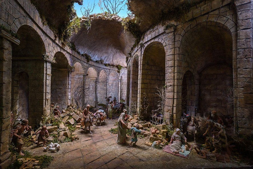 Adoración de Pastores en el Teatro Romano de Tarragona, de Carles Tarragó, del Museo Arte Belenista